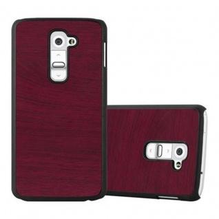 Cadorabo Hülle für LG G2 in WOODY ROT ? Hardcase Handyhülle aus Plastik gegen Kratzer und Stöße ? Schutzhülle Bumper Ultra Slim Back Case Hard Cover
