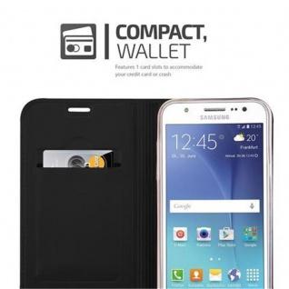 Cadorabo Hülle für Samsung Galaxy J5 2015 in CLASSY SCHWARZ - Handyhülle mit Magnetverschluss, Standfunktion und Kartenfach - Case Cover Schutzhülle Etui Tasche Book Klapp Style - Vorschau 3