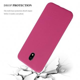Cadorabo Hülle für Samsung Galaxy J5 2017 in FROSTY PINK - Hardcase Handyhülle aus Plastik gegen Kratzer und Stöße - Schutzhülle Bumper Ultra Slim Back Case Hard Cover - Vorschau 4