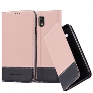 Cadorabo Hülle für Samsung Galaxy NOTE 3 in GOLD SCHWARZ Handyhülle mit Magnetverschluss, Standfunktion und Kartenfach Case Cover Schutzhülle Etui Tasche Book Klapp Style