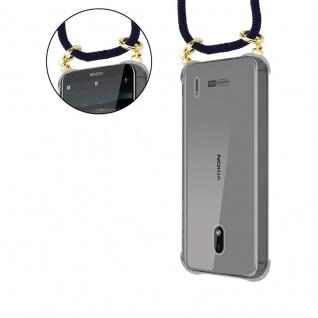Cadorabo Handy Kette für Nokia 2.2 in TIEF BLAU - Silikon Necklace Umhänge Hülle mit Gold Ringen, Kordel Band Schnur und abnehmbarem Etui ? Schutzhülle - Vorschau 5
