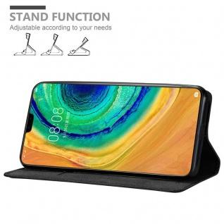 Cadorabo Hülle für Huawei MATE 30 in NACHT SCHWARZ - Handyhülle mit Magnetverschluss, Standfunktion und Kartenfach - Case Cover Schutzhülle Etui Tasche Book Klapp Style - Vorschau 2