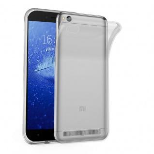 Cadorabo Hülle für Xiaomi RedMi 5A in VOLL TRANSPARENT - Handyhülle aus flexiblem TPU Silikon - Silikonhülle Schutzhülle Ultra Slim Soft Back Cover Case Bumper