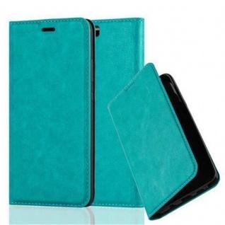 Cadorabo Hülle für Huawei P10 PLUS in PETROL TÜRKIS - Handyhülle mit Magnetverschluss, Standfunktion und Kartenfach - Case Cover Schutzhülle Etui Tasche Book Klapp Style