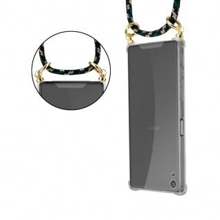 Cadorabo Handy Kette für Sony Xperia XA in CAMOUFLAGE ? Silikon Necklace Umhänge Hülle mit Gold Ringen, Kordel Band Schnur und abnehmbarem Etui ? Schutzhülle - Vorschau 5