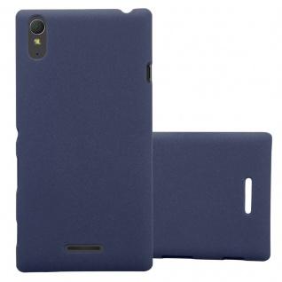 Cadorabo Hülle für Sony Xperia T3 in FROSTY BLAU - Hardcase Handyhülle aus Plastik gegen Kratzer und Stöße - Schutzhülle Bumper Ultra Slim Back Case Hard Cover