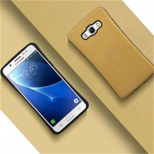Cadorabo Hülle für Samsung Galaxy J5 2016 - Hülle in GOLD BRAUN ? Small Waist Handyhülle mit rutschfestem Gummi-Rücken - Hard Case TPU Silikon Schutzhülle - Vorschau 4