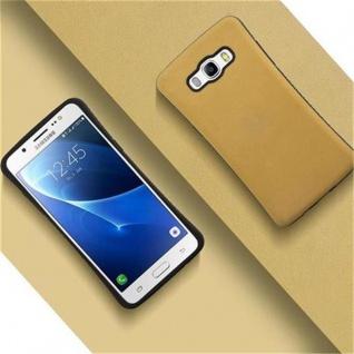 Cadorabo Hülle für Samsung Galaxy J5 2016 (6) - Hülle in GOLD BRAUN - Small Waist Handyhülle mit rutschfestem Gummi-Rücken - Hard Case TPU Silikon Schutzhülle - Vorschau 4