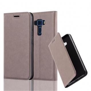 Cadorabo Hülle für Asus ZenFone 3 in KAFFEE BRAUN Handyhülle mit Magnetverschluss, Standfunktion und Kartenfach Case Cover Schutzhülle Etui Tasche Book Klapp Style