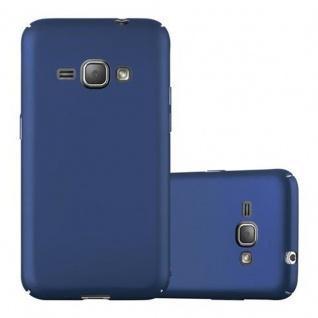 Cadorabo Hülle für Samsung Galaxy J1 2016 in METALL BLAU Hardcase Handyhülle aus Plastik gegen Kratzer und Stöße Schutzhülle Bumper Ultra Slim Back Case Hard Cover