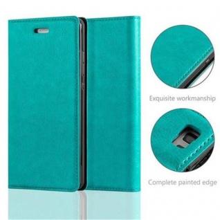 Cadorabo Hülle für Huawei P8 LITE 2015 in PETROL TÜRKIS - Handyhülle mit Magnetverschluss, Standfunktion und Kartenfach - Case Cover Schutzhülle Etui Tasche Book Klapp Style - Vorschau 2