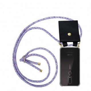 Cadorabo Handy Kette für Nokia 4.2 in UNICORN - Silikon Necklace Umhänge Hülle mit Gold Ringen, Kordel Band Schnur und abnehmbarem Etui ? Schutzhülle