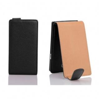 Cadorabo Hülle für Sony Xperia T in OXID SCHWARZ - Handyhülle im Flip Design aus strukturiertem Kunstleder - Case Cover Schutzhülle Etui Tasche Book Klapp Style - Vorschau 2