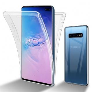 Cadorabo Hülle kompatibel mit Samsung Galaxy S10 Plus in TRANSPARENT - 360° Full Body Handyhülle Front und Rückenschutz Rundumschutz Schutzhülle mit Displayschutz