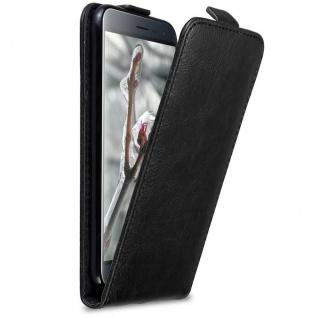 Cadorabo Hülle für Asus ZenFone 3 in NACHT SCHWARZ Handyhülle im Flip Design mit Magnetverschluss Case Cover Schutzhülle Etui Tasche Book Klapp Style