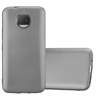 Cadorabo Hülle für Motorola MOTO G5S PLUS in METALLIC GRAU - Handyhülle aus flexiblem TPU Silikon - Silikonhülle Schutzhülle Ultra Slim Soft Back Cover Case Bumper