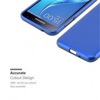 Cadorabo Hülle für Samsung Galaxy J3 / J3 DUOS 2016 in METALLIC BLAU - Handyhülle aus flexiblem TPU Silikon - Silikonhülle Schutzhülle Ultra Slim Soft Back Cover Case Bumper - Vorschau 2