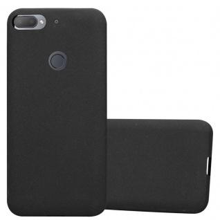 Cadorabo Hülle für HTC Desire 12 PLUS in FROST SCHWARZ Handyhülle aus flexiblem TPU Silikon Silikonhülle Schutzhülle Ultra Slim Soft Back Cover Case Bumper