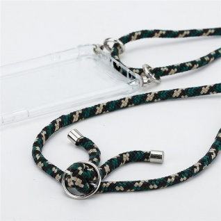 Cadorabo Handy Kette für Huawei MATE 20 in CAMOUFLAGE Silikon Necklace Umhänge Hülle mit Silber Ringen, Kordel Band Schnur und abnehmbarem Etui Schutzhülle - Vorschau 3