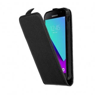 Cadorabo Hülle für Samsung Galaxy XCover 4 in OXID SCHWARZ - Handyhülle im Flip Design aus strukturiertem Kunstleder - Case Cover Schutzhülle Etui Tasche Book Klapp Style