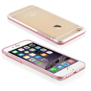 Cadorabo - Ultra Slim (0, 5mm) TPU Silikon Schutzhülle für Apple iPhone 6 / iPhone 6S - Case Cover Schutzhülle Bumper in ZART ROSA - Vorschau 2