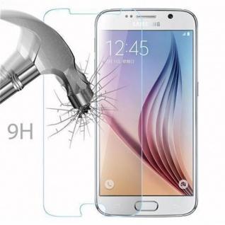 Cadorabo Panzer Folie für Samsung Galaxy S6 - Schutzfolie in KRISTALL KLAR - Gehärtetes (Tempered) Display-Schutzglas in 9H Härte mit 3D Touch Kompatibilität - Vorschau 3