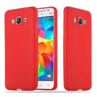 Cadorabo Hülle für Samsung Galaxy GRAND PRIME in CANDY ROT - Handyhülle aus flexiblem TPU Silikon - Silikonhülle Schutzhülle Ultra Slim Soft Back Cover Case Bumper