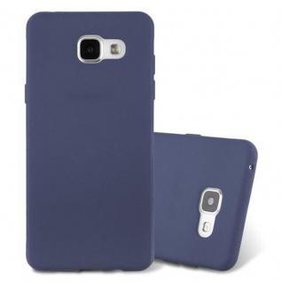 Cadorabo Hülle für Samsung Galaxy A5 2016 in FROST DUNKEL BLAU - Handyhülle aus flexiblem TPU Silikon - Silikonhülle Schutzhülle Ultra Slim Soft Back Cover Case Bumper
