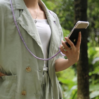 Cadorabo Handy Kette für Huawei NOVA 2 in UNICORN Silikon Necklace Umhänge Hülle mit Gold Ringen, Kordel Band Schnur und abnehmbarem Etui Schutzhülle - Vorschau 4