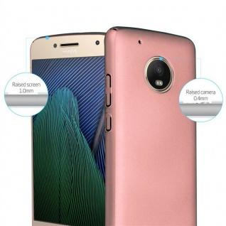 Cadorabo Hülle für Motorola MOTO G5 PLUS in METALL ROSÉ GOLD ? Hardcase Handyhülle aus Plastik gegen Kratzer und Stöße ? Schutzhülle Bumper Ultra Slim Back Case Hard Cover - Vorschau 2