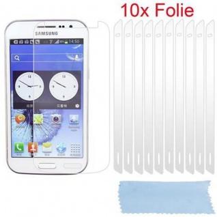 Cadorabo Displayschutzfolien für Samsung Galaxy WIN - Schutzfolien in HIGH CLEAR ? 10 Stück hochtransparenter Schutzfolien gegen Staub, Schmutz und Kratzer