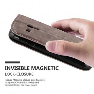 Cadorabo Hülle für Samsung Galaxy S3 MINI in KAFFEE BRAUN - Handyhülle mit Magnetverschluss, Standfunktion und Kartenfach - Case Cover Schutzhülle Etui Tasche Book Klapp Style - Vorschau 5