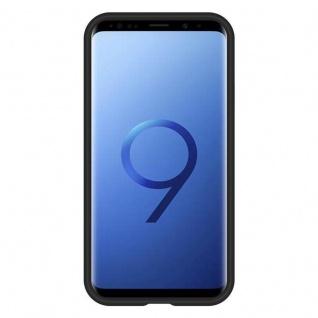 Cadorabo Hülle für Samsung Galaxy S9 in DAHLIEN SCHWARZ ? Outdoor Handyhülle mit extra Grip Anti Rutsch Oberfläche im Triangle Design aus Silikon und Kunststoff - Schutzhülle Hybrid Hardcase Back Case - Vorschau 4