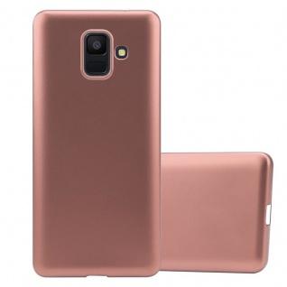 Cadorabo Hülle für Samsung Galaxy A6 2018 in METALLIC ROSÉ GOLD - Handyhülle aus flexiblem TPU Silikon - Silikonhülle Schutzhülle Ultra Slim Soft Back Cover Case Bumper