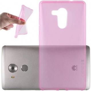 Cadorabo Hülle für Huawei MATE 8 - Hülle in TRANSPARENT PINK ? Handyhülle aus TPU Silikon im Ultra Slim 'AIR' Design - Ultra Slim Soft Backcover Case Bumper