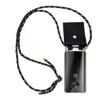 Cadorabo Handy Kette für Motorola MOTO X4 in CAMOUFLAGE - Silikon Necklace Umhänge Hülle mit Gold Ringen, Kordel Band Schnur und abnehmbarem Etui ? Schutzhülle