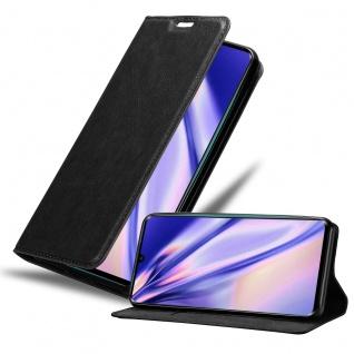 Cadorabo Hülle kompatibel mit Xiaomi Mi Note 10 in NACHT SCHWARZ Handyhülle mit Magnetverschluss, Standfunktion und Kartenfach Case Cover Schutzhülle Etui Tasche Book Klapp Style