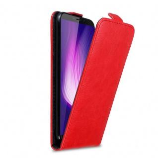 Cadorabo Hülle für Cubot Nova in APFEL ROT Handyhülle im Flip Design mit Magnetverschluss Case Cover Schutzhülle Etui Tasche Book Klapp Style