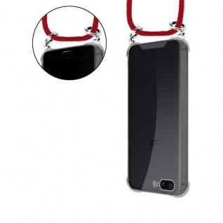Cadorabo Handy Kette für OnePlus 5 in RUBIN ROT - Silikon Necklace Umhänge Hülle mit Silber Ringen, Kordel Band Schnur und abnehmbarem Etui - Schutzhülle - Vorschau 5