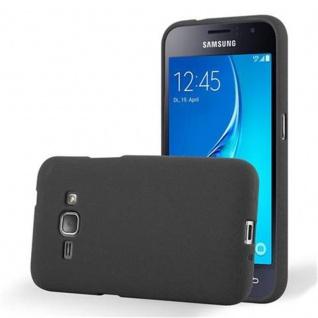 Cadorabo Hülle für Samsung Galaxy J1 2016 in FROST SCHWARZ - Handyhülle aus flexiblem TPU Silikon - Silikonhülle Schutzhülle Ultra Slim Soft Back Cover Case Bumper