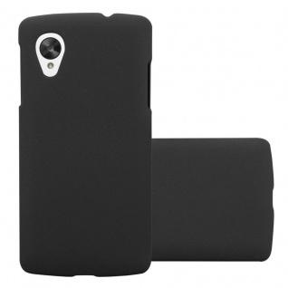 Cadorabo Hülle für LG Nexus 5 in FROSTY SCHWARZ - Hardcase Handyhülle aus Plastik gegen Kratzer und Stöße - Schutzhülle Bumper Ultra Slim Back Case Hard Cover