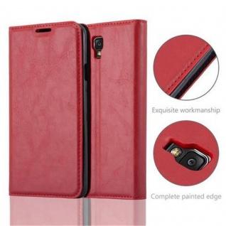 Cadorabo Hülle für Samsung Galaxy NOTE 3 NEO in APFEL ROT - Handyhülle mit Magnetverschluss, Standfunktion und Kartenfach - Case Cover Schutzhülle Etui Tasche Book Klapp Style - Vorschau 2