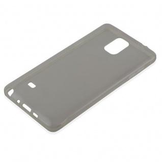 Cadorabo Hülle für Samsung Galaxy NOTE 4 in TRANSPARENT SCHWARZ - Handyhülle aus flexiblem TPU Silikon - Silikonhülle Schutzhülle Ultra Slim Soft Back Cover Case Bumper - Vorschau 2
