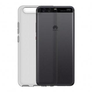 Cadorabo Hülle für Huawei P10 in TRANSPARENT SCHWARZ - Handyhülle aus flexiblem TPU Silikon - Silikonhülle Schutzhülle Ultra Slim Soft Back Cover Case Bumper