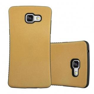 Cadorabo Hülle für Samsung Galaxy A3 2016 (6) - Hülle in GOLD BRAUN - Small Waist Handyhülle mit rutschfestem Gummi-Rücken - Hard Case TPU Silikon Schutzhülle