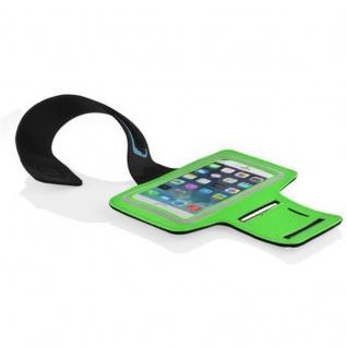 Cadorabo - Neopren Smartphone Sport Armband Fitnessstudio Jogging Armband Oberarmtasche kompatibel mit 4.5 - 5.0 Zoll Handys wie z. B. Apple iPhone 6 / 6S, 8 / 7 / 7S, Samsung Galaxy A3, HTC ONE A9 usw. mit Schlüsselfach und Kopfhöreranschluss in GRÜ - Vorschau 3