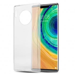Cadorabo Hülle für Huawei MATE 30 PRO in VOLL TRANSPARENT Handyhülle aus flexiblem TPU Silikon Silikonhülle Schutzhülle Ultra Slim Soft Back Cover Case Bumper
