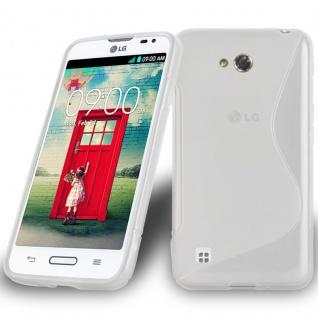 Cadorabo Hülle für LG L50 in HALB TRANSPARENT ? Handyhülle aus flexiblem TPU Silikon ? Silikonhülle Schutzhülle Ultra Slim Soft Back Cover Case Bumper
