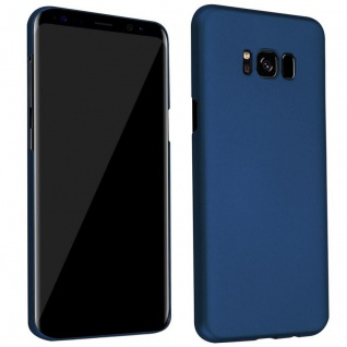 Cadorabo Hülle für Samsung Galaxy S8 in METALL BLAU - Hardcase Handyhülle aus Plastik gegen Kratzer und Stöße - Schutzhülle Bumper Ultra Slim Back Case Hard Cover