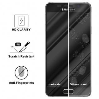 Cadorabo Vollbild Panzer Folie für Samsung Galaxy A5 2016 - Schutzfolie in TRANSPARENT mit SCHWARZ - Gehärtetes (Tempered) Display-Schutzglas in 9H Härte mit 3D Touch Kompatibilität - Vorschau 3